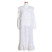 [쿠비카]라운드넥 순면 원피스 여성잠옷 W503