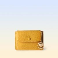 [이니셜 커스텀] Big pocket point wallet _ Yellow
