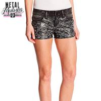 CAMERA TALK DENIM SHORT (BLACK)
