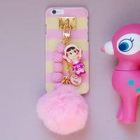 [올패턴]스마트폰 토이 케이스-핑크 바닐라