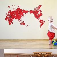 세계지도(맵)(반제품B)그래픽스티커 포인트 시트지 인테리어 스티커