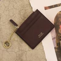 D.LAB Coin simple card wallet  - Burgundy