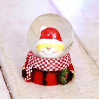 크리스마스 워터볼 스노우볼 4.5cm [눈사람얼굴]