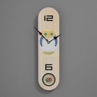 (kdrz140)키다리 저소음 부엉이 원목타원 추시계