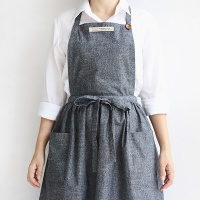 [콩지] 엘리스 해지 셔링 앞치마 (목걸이형)