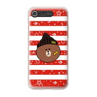 iPhone7 8 LINE FRIENDS BROWN STRIPE Light UP Case