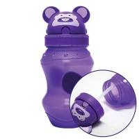 동물원 빨대 물병 350ml 퍼플 어린이 휴대용 물통