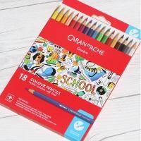 까렌다쉬 스쿨라인 수채색연필 18색 지관 1290.718