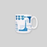 Ocean blue bridge mug