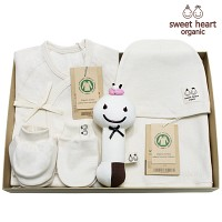 [출산선물]오가닉 내츄럴 꽃잎 신생아 선물세트