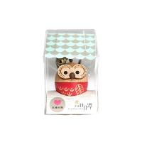 [WOODERFUL LIFE] PINK OWL KEY RING