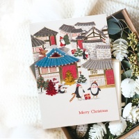 FS1029-3 크리스마스카드,트리,산타,성탄절