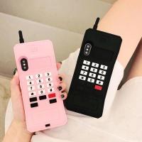 아이폰 귀여운 커플 레트로 전화기 실리콘 폰 케이스