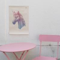 유니콘 일러스트 패브릭 포스터 / 가리개 커튼