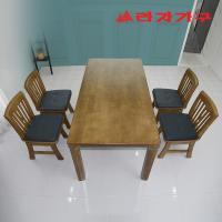 두라스 고무나무 원목 식탁세트 의자형 4인