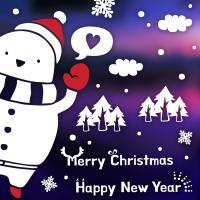제제데코 크리스마스 눈꽃 스티커 장식 CMS4J230