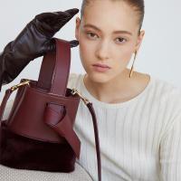 Lycka Fur Mini Bag 리카 퍼 미니백 버건디