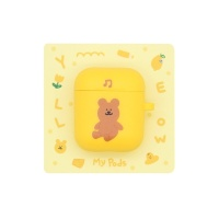 [한톨상점]룰루반곰이 에어팟케이스(노랑)