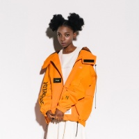 [VJ3JP001A]VGTB BARCODE WIND BRAKER JACKET ORANGE