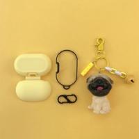 갤럭시버즈 1/2 강아지 키링 실리콘 케이스 GB22 퍼그