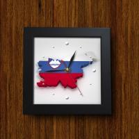 iy324-세계의시간_슬로베니아슬로바키아미니액자벽시계_디자인액자시계