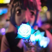 LED 장미꽃 (대/ 화이트)