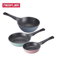 [네오플램] 티타늄코팅 제이드 후라이팬 3종세트