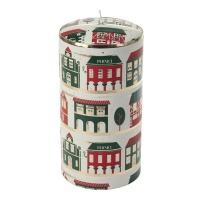 [페르니시] 윈터빌리지 데코 캔들 - 레드그린 (20cm)