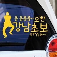 강남스타일 패러디 강남초보스타일 - 초보운전스티커(278)