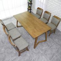 도밍 고무나무 원목 6인용 식탁세트 의자형