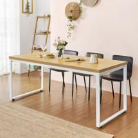 홈 카페 4인용 식탁테이블 600x1600 사각다리