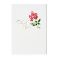 홀마크 감사 카드(붉은꽃)-KED1560