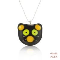 [글라스파크]고양이 유리 목걸이(블랙, 옐로우)