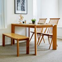고운W 오크 4인 식탁세트 / 벤치, 의자