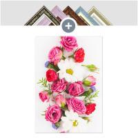 인테리어 캔버스 꽃액자 선인장액자 장미와 들꽃