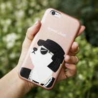 [비욘드클로젯X매니퀸] 아이폰6 케이스 - 코코 도그 아티피셜 레더 핑크