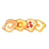 갓샵 토스트파우치 4종 식빵파우치 빵파우치