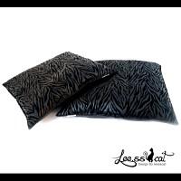 [리스캣] 럭셔리 지브라 방석- 블랙