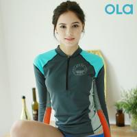 [OLA]올라 여성 래쉬가드 하프 반집업 OT101 수영복/서핑/비치웨어/래시가드