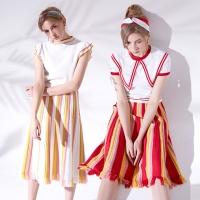 플레어 니트 스커트 Flared knit skirt_RED