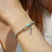 i_b32 - labradorite & Turquoise stone bracelet