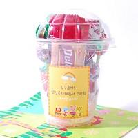 아기기차놀이 선물포장 24개셋트(투명컵)