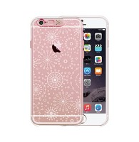 iPhone 6 plus Clear shield Rosegold (firework)