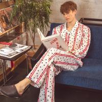 Angel 스트라이프 도트 파자마세트 남성 잠옷