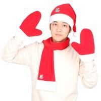 산타의상세트 남성용(모자+목도리+장갑)고급