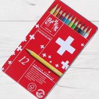 까렌다쉬 수채색연필-스위스컬러 12색 메탈박스