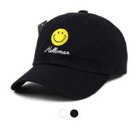 스마일 패치 레터 볼캡 모자 ET710