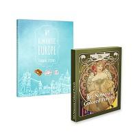 [무료배송] 아르누보 색연필 36색 +마이 로맨틱 컬러링 스티커북 세트