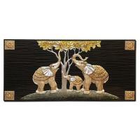 홈스타일링 코끼리 가족 부조액자CH1485737