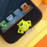 디즈니 라이트닝캡 마이크 아이폰5-6 홈버튼